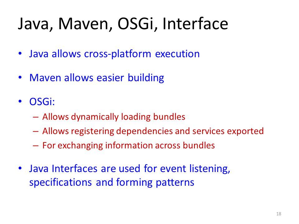 Java, Maven, OSGi, Interface