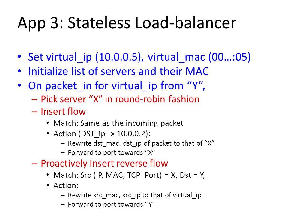 App 3: Stateless Load-balancer