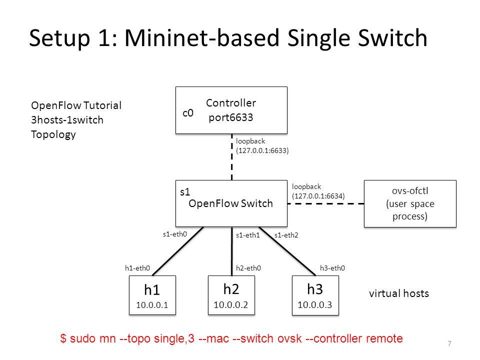Setup 1: Mininet-based Single Switch
