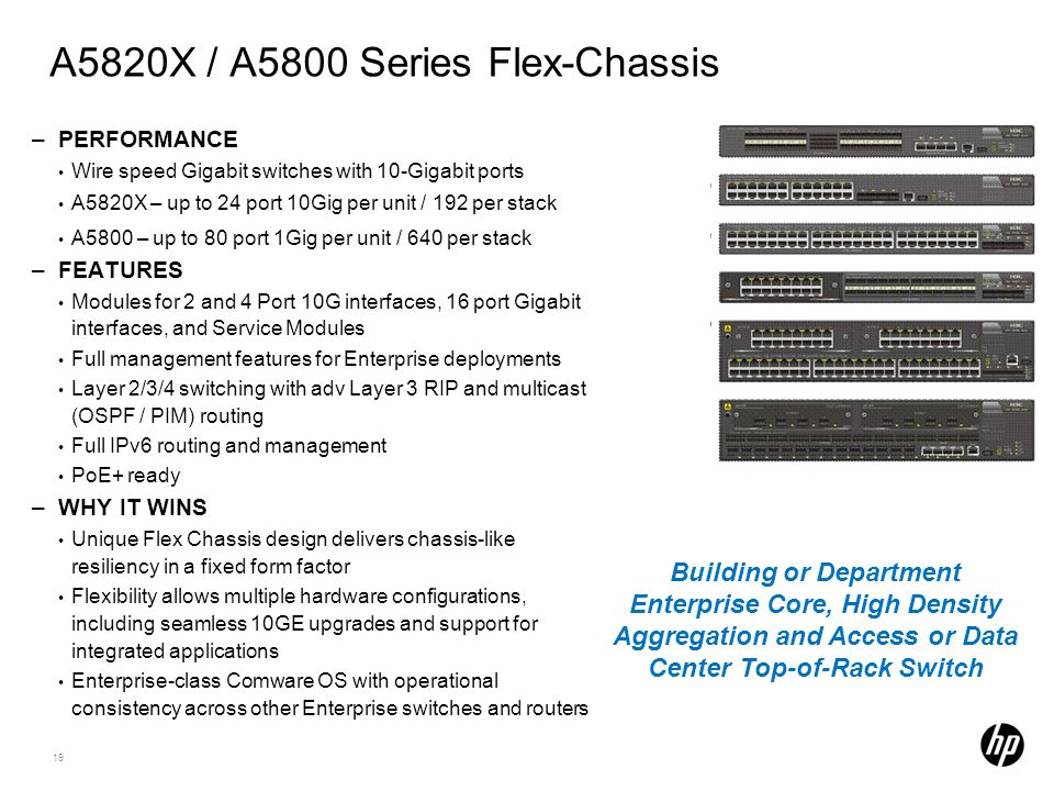 A5820X / A5800 Series Flex-Chassis