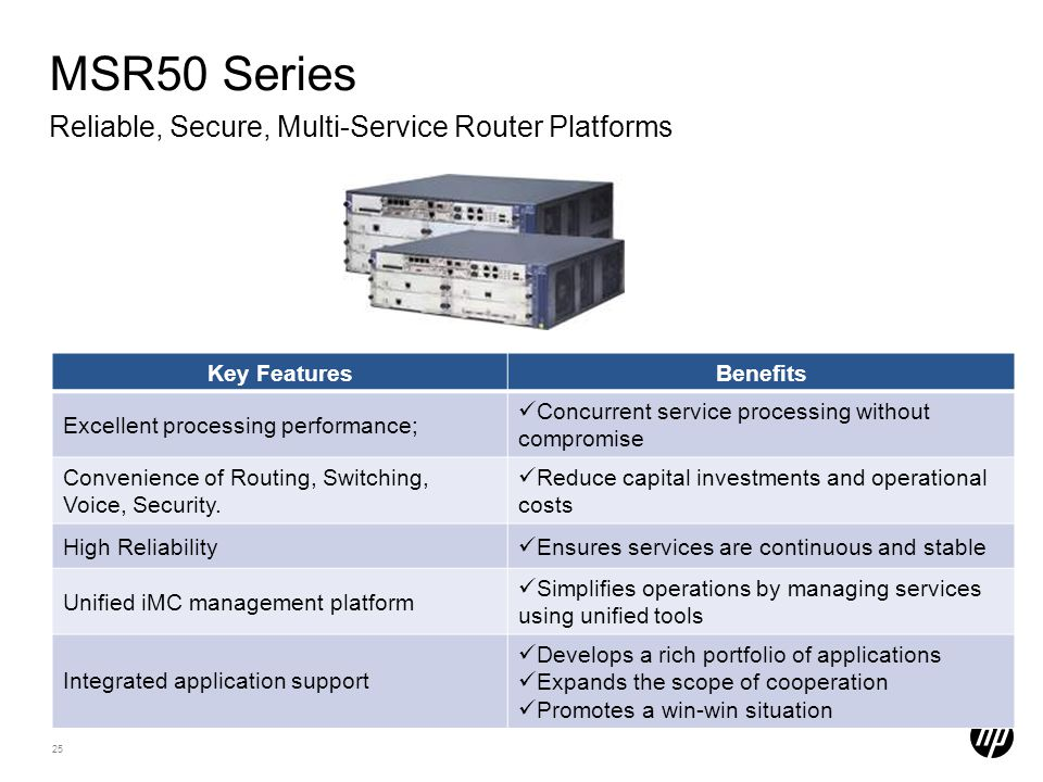 MSR50 Series Reliable, Secure, Multi-Service Router Platforms
