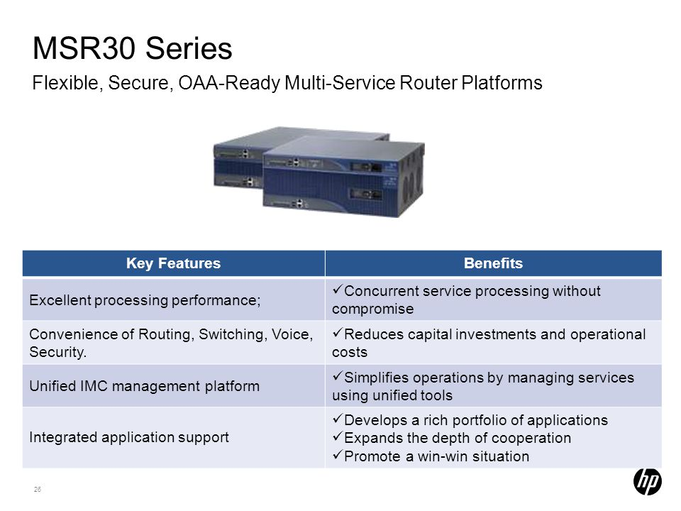 MSR30 Series Flexible, Secure, OAA-Ready Multi-Service Router Platforms