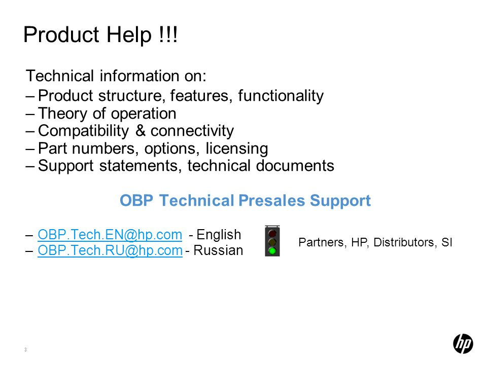 OBP Technical Presales Support