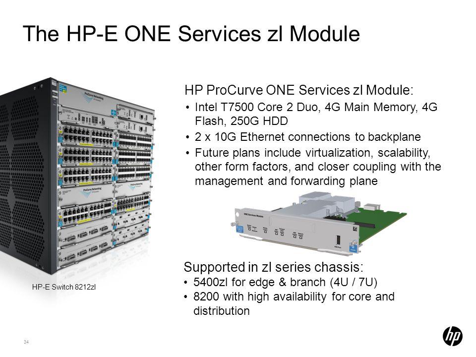 The HP-E ONE Services zl Module