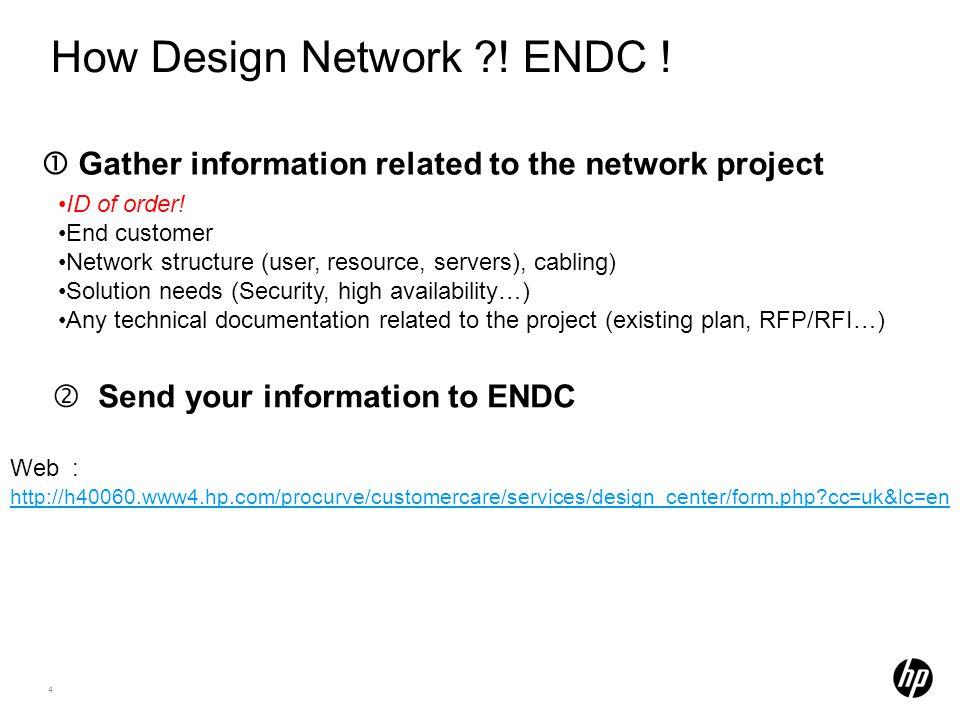 How Design Network ! ENDC !