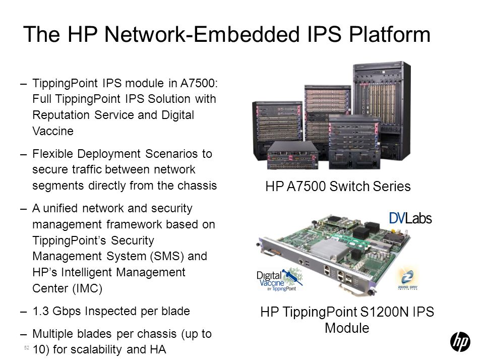 The HP Network-Embedded IPS Platform