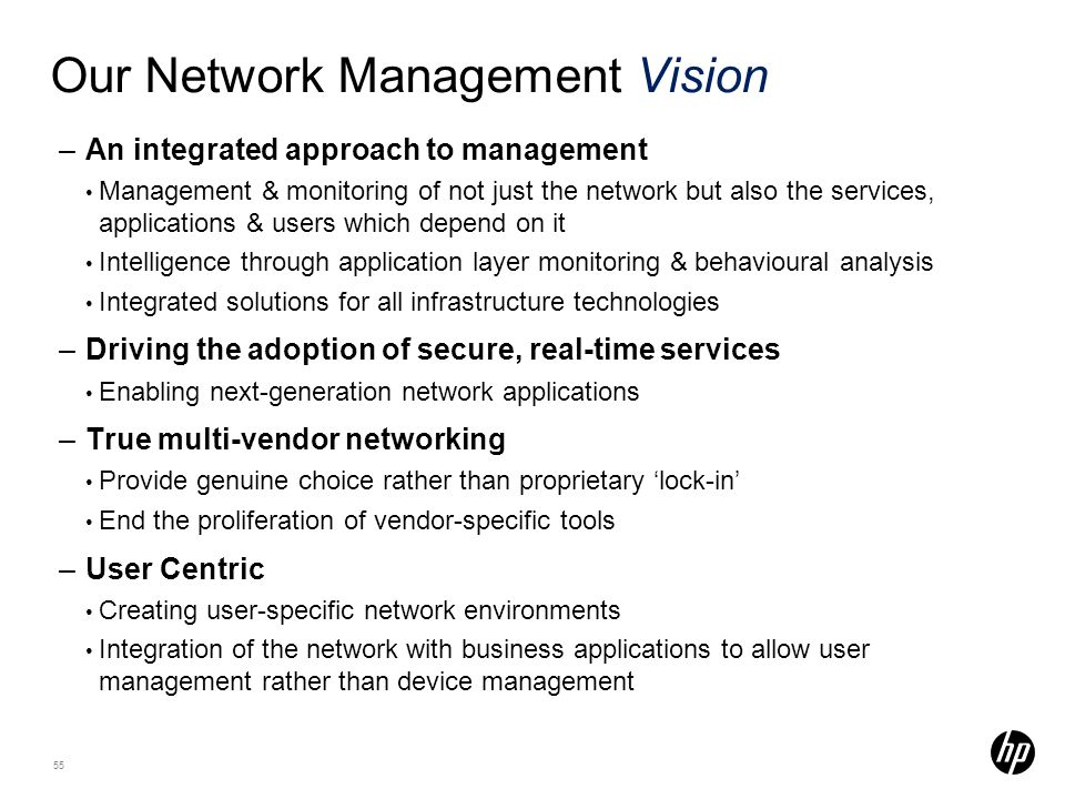 Our Network Management Vision