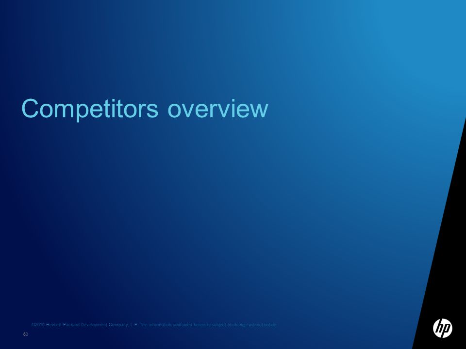 Competitors overview
