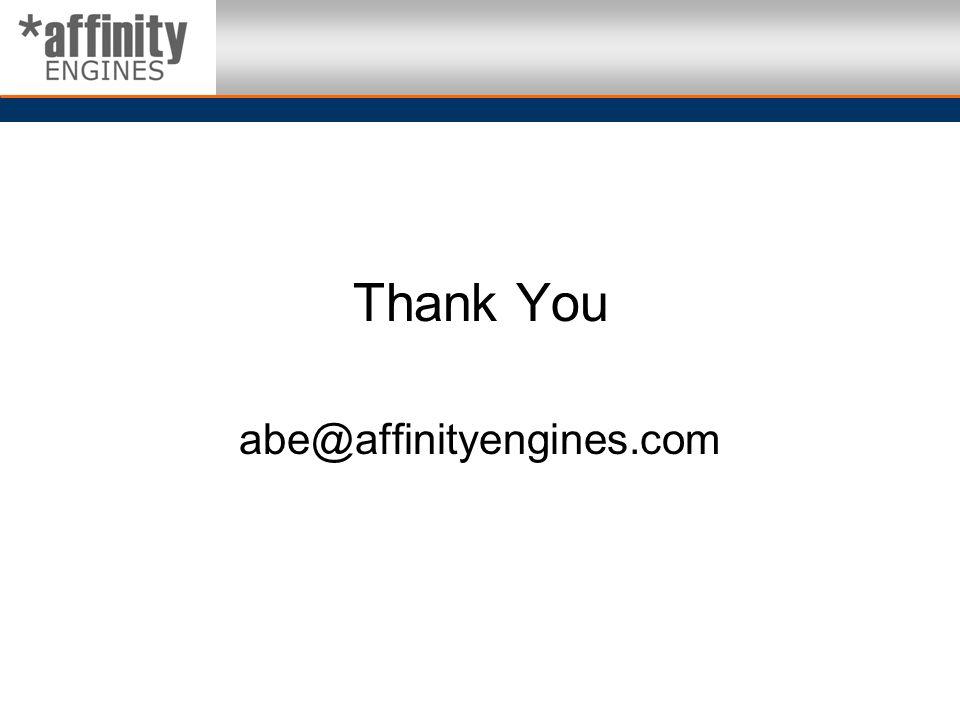 Thank You abe@affinityengines.com