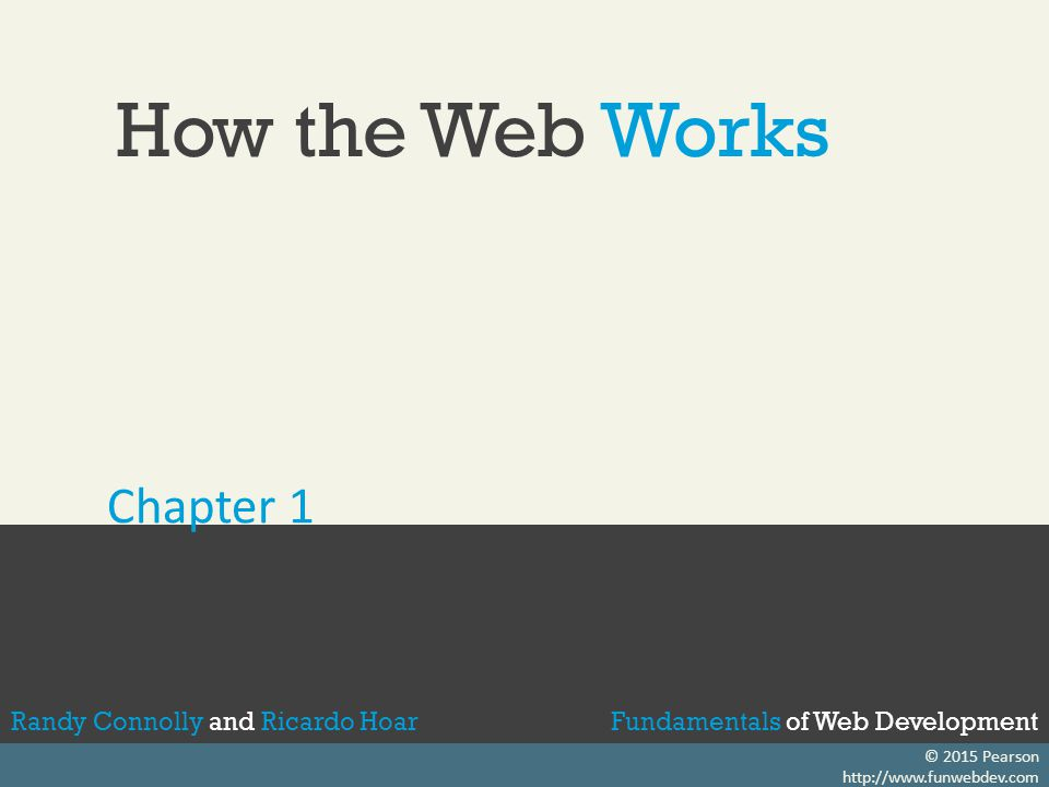 How the Web Works Chapter 1
