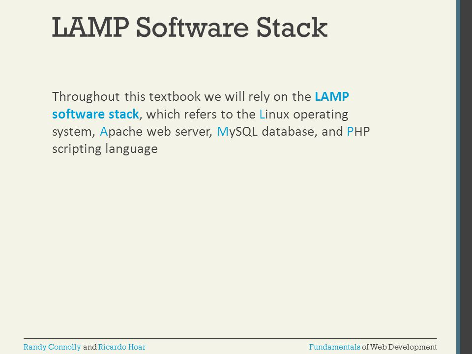 LAMP Software Stack