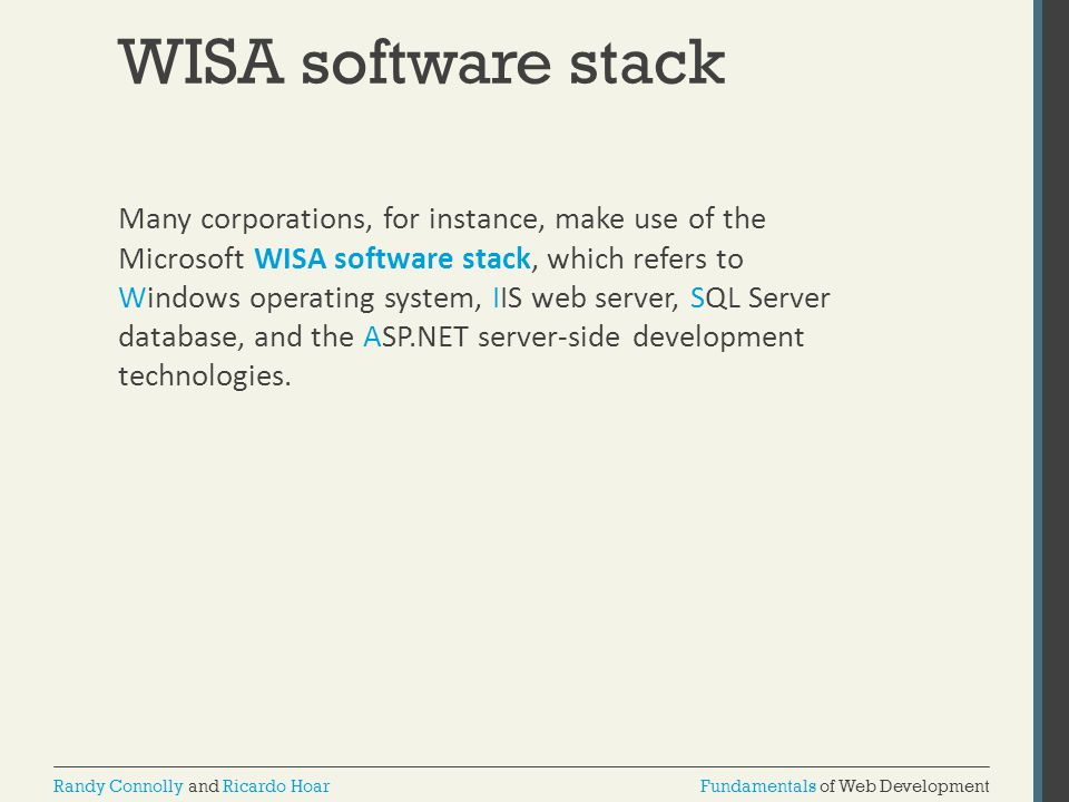 WISA software stack