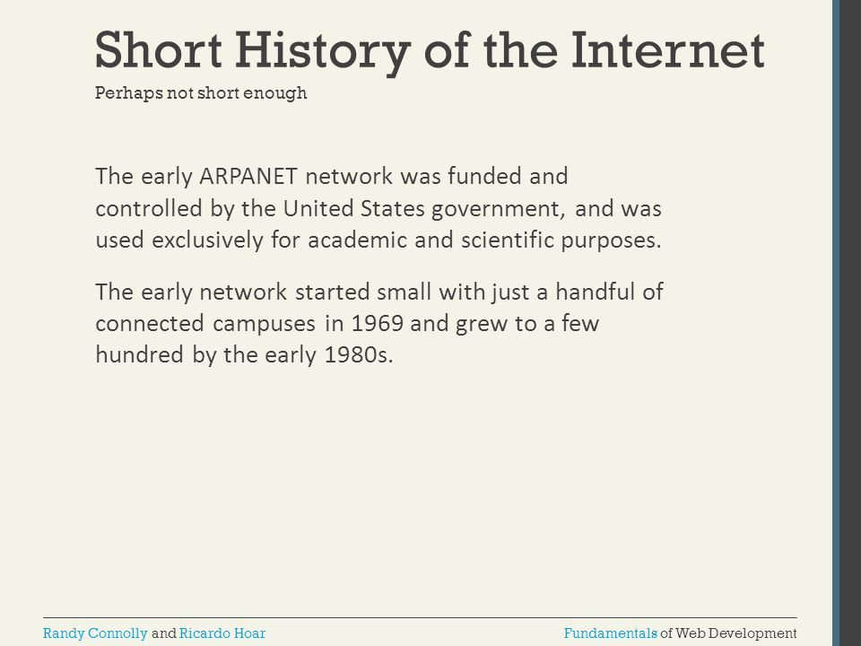 Short History of the Internet