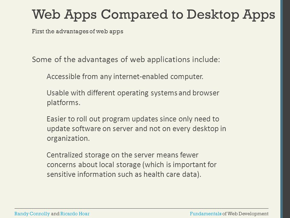 Web Apps Compared to Desktop Apps