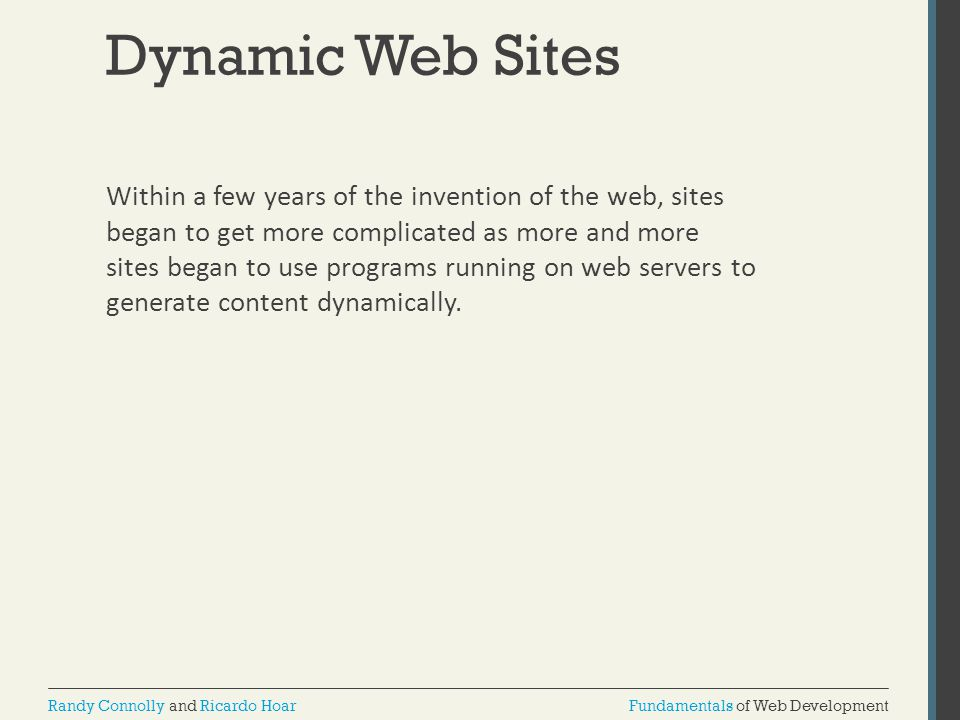 Dynamic Web Sites