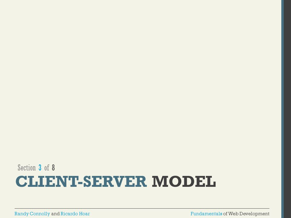 Section 3 of 8 Client-Server MODEL