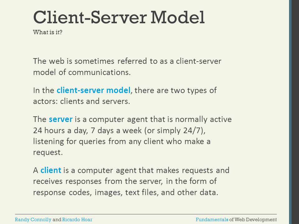 Client-Server Model What is it