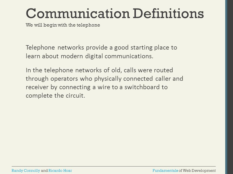Communication Definitions