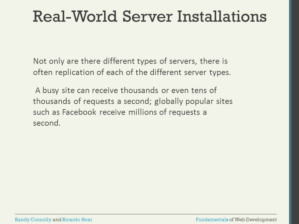Real-World Server Installations