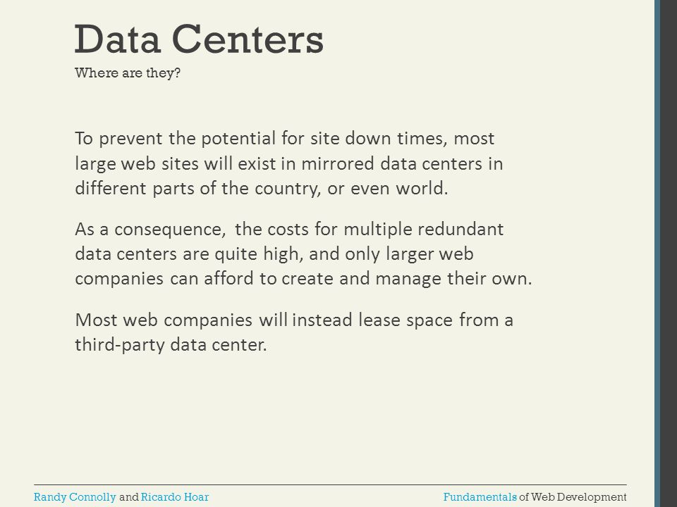 Data Centers Where are they