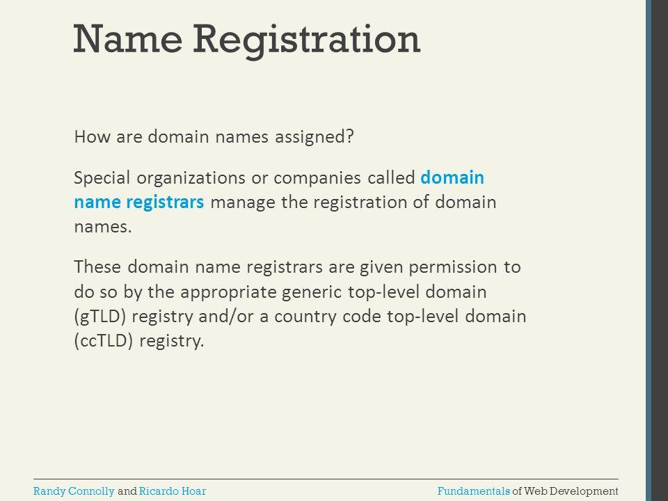 Name Registration