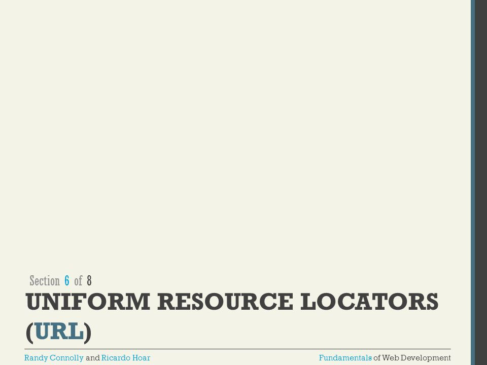 Uniform Resource Locators (URL)