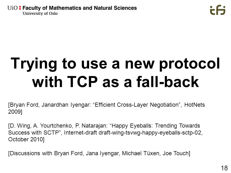 Trying to use a new protocol with TCP as a fall-back