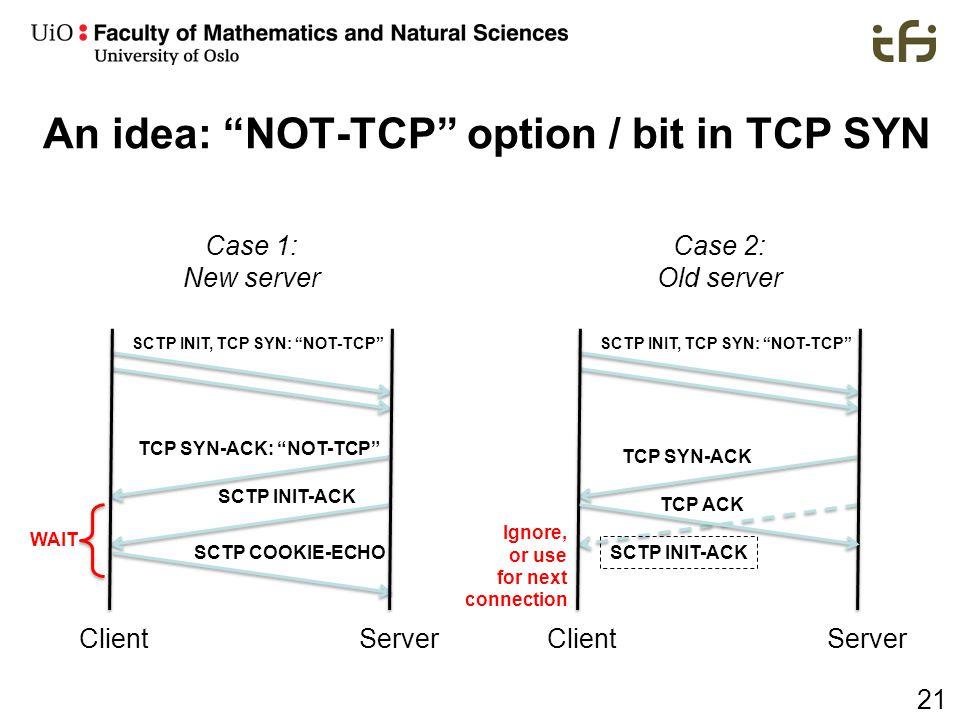 An idea: NOT-TCP option / bit in TCP SYN