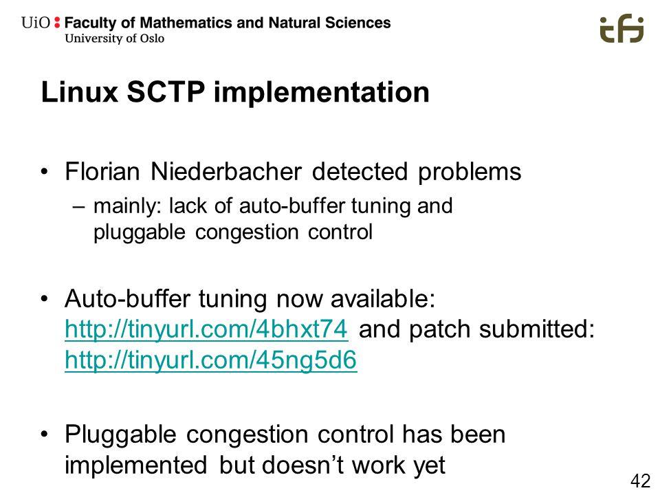 Linux SCTP implementation