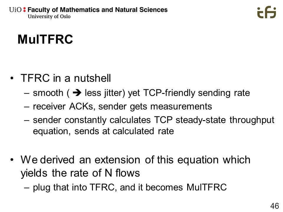 MulTFRC TFRC in a nutshell