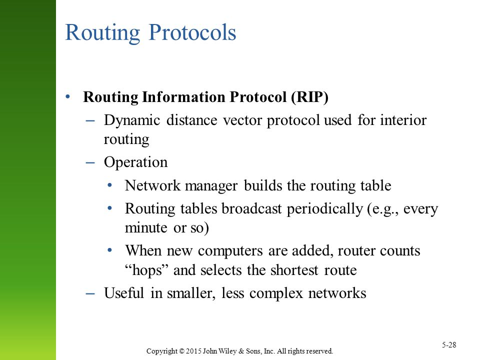 Routing Protocols Routing Information Protocol (RIP)