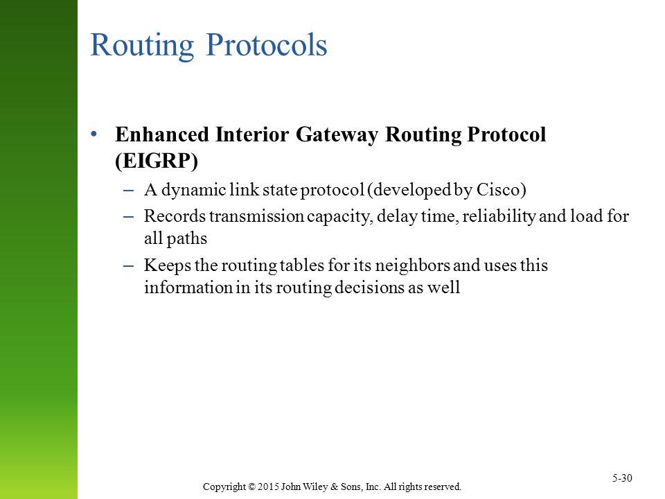 Routing Protocols Enhanced Interior Gateway Routing Protocol (EIGRP)