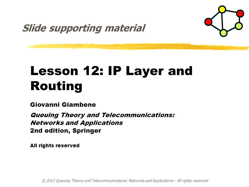 Lesson 12: IP Layer and Routing