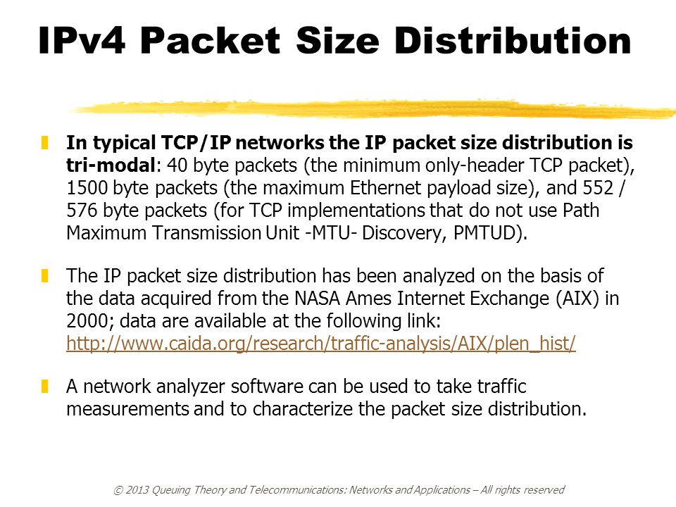 IPv4 Packet Size Distribution