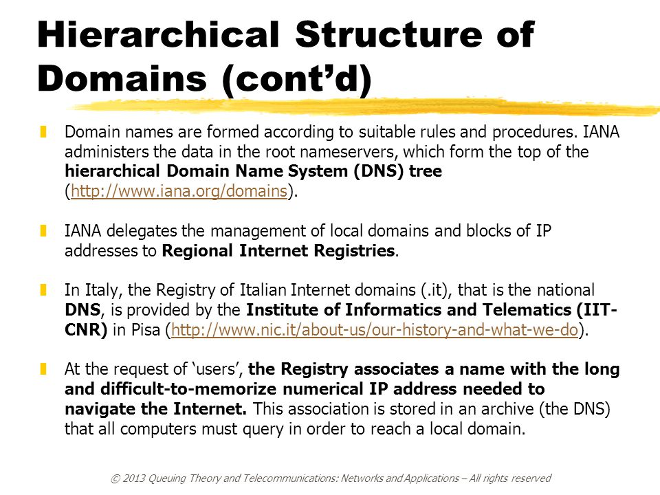 Hierarchical Structure of Domains (cont'd)