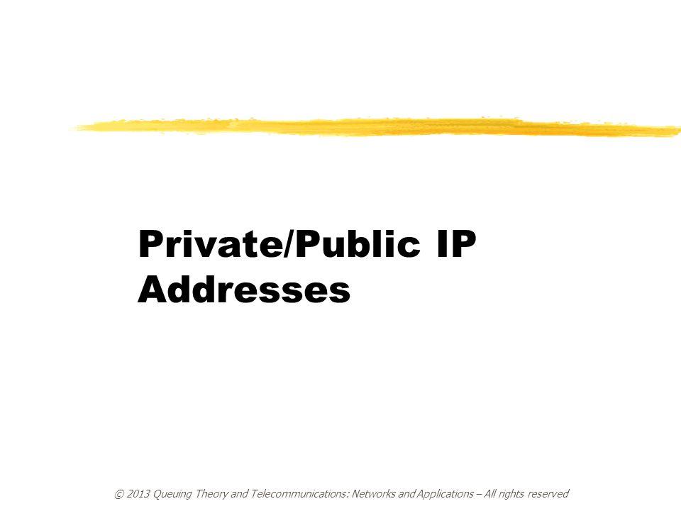 Private/Public IP Addresses