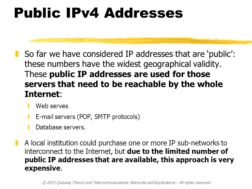 Public IPv4 Addresses