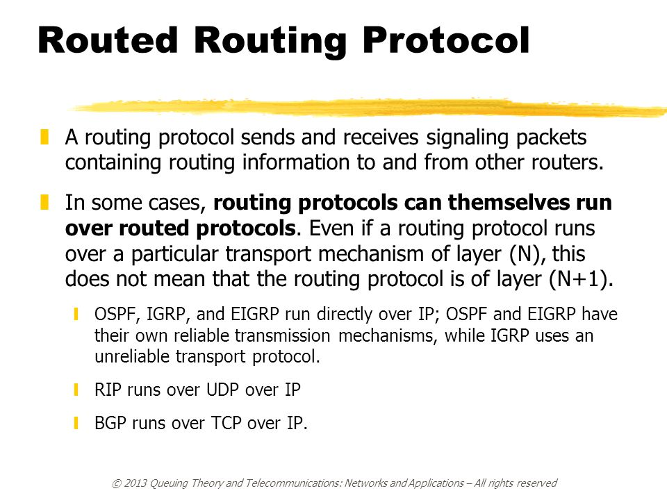 Routed Routing Protocol