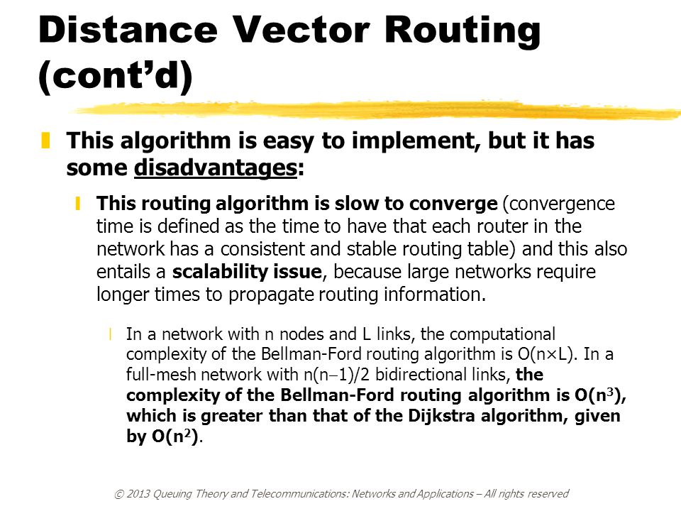 Distance Vector Routing (cont'd)