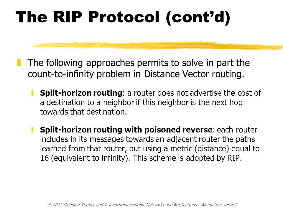 The RIP Protocol (cont'd)