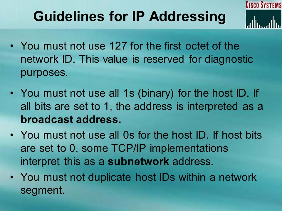 Guidelines for IP Addressing