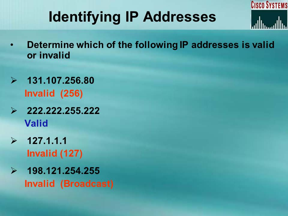 Identifying IP Addresses