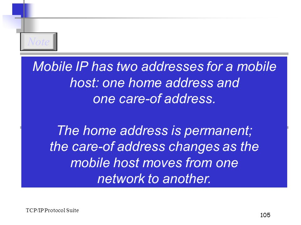 mobile host moves from one network to another.