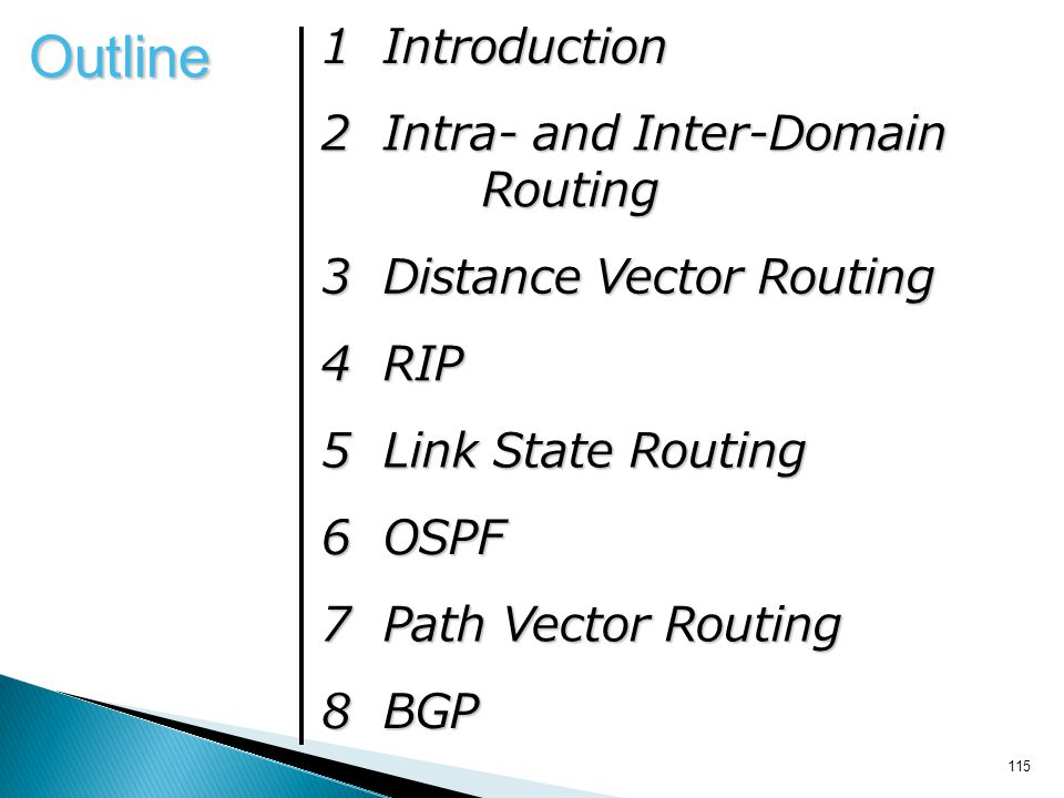 Outline 1 Introduction 2 Intra- and Inter-Domain Routing