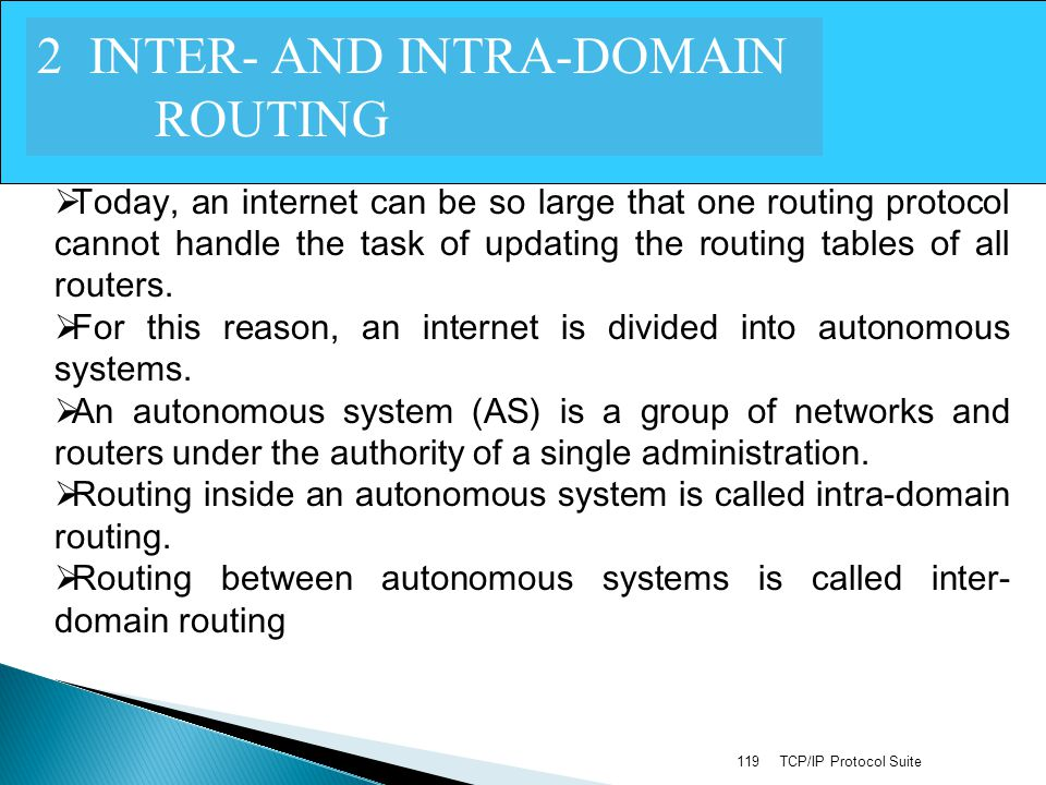 2 INTER- AND INTRA-DOMAIN ROUTING
