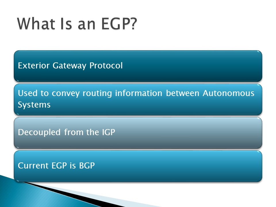 What Is an EGP 6 Exterior Gateway Protocol