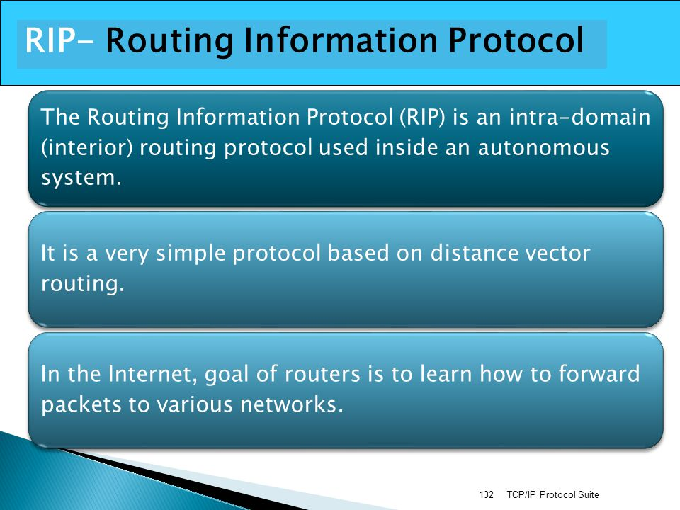RIP- Routing Information Protocol