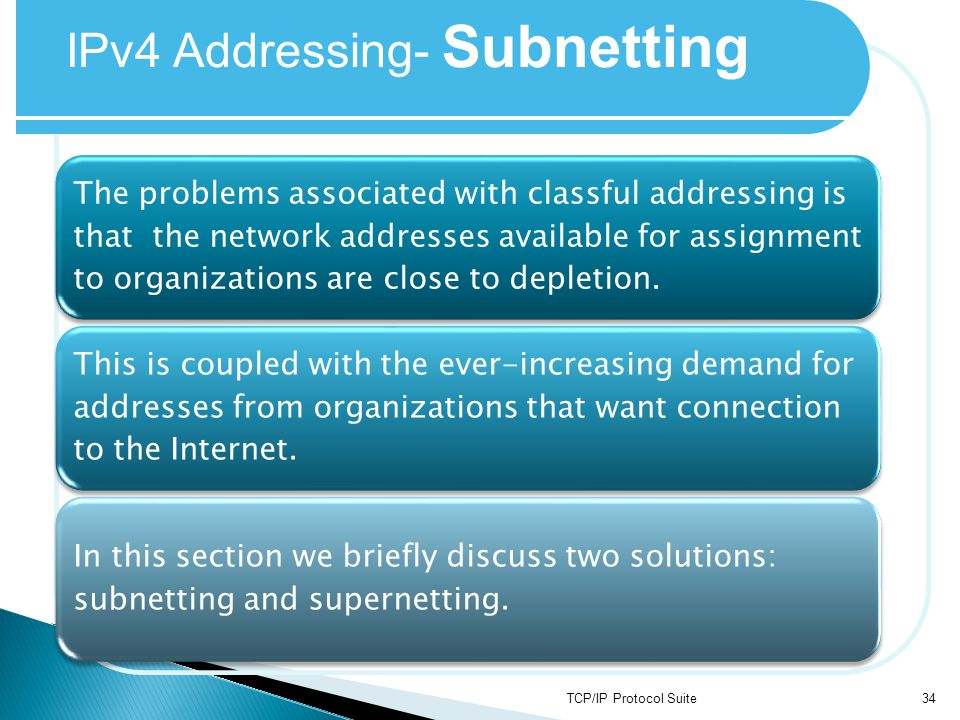 IPv4 Addressing- Subnetting