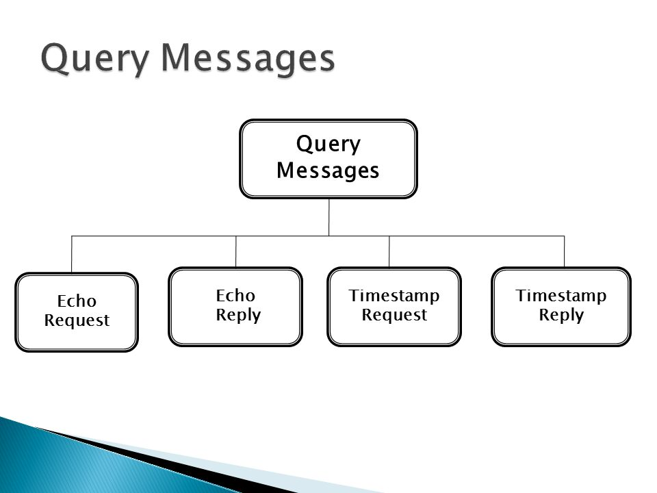Query Messages Query Messages Echo Reply Timestamp Request