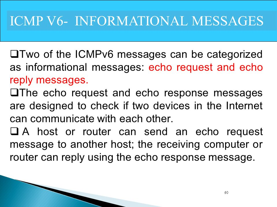 ICMP V6- INFORMATIONAL MESSAGES